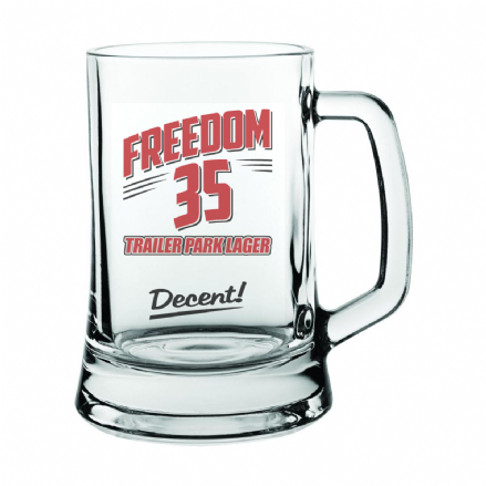 Freedom 35 Trailer Park Boys Lager Beer Glass Mug